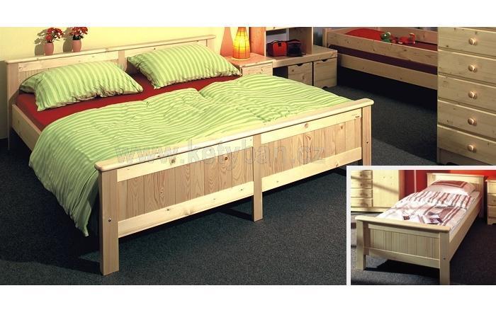 b7e812392837 Dřevěná postel Anny přírodní