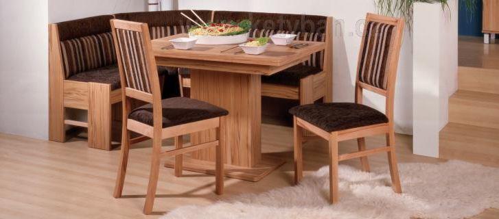 Rohová jídelní lavice Bern