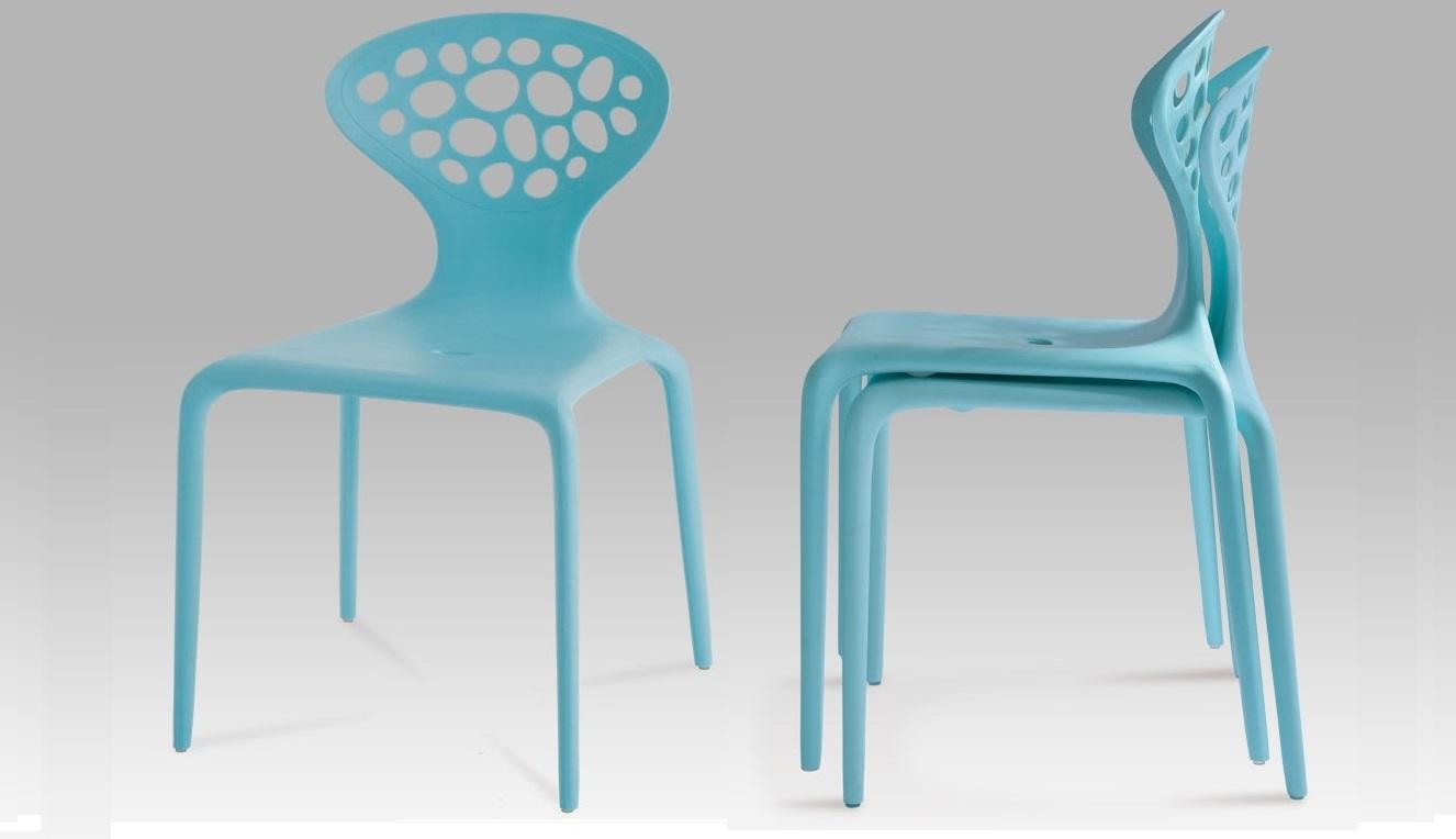 Plastová jídelní židle Ct-273 blu