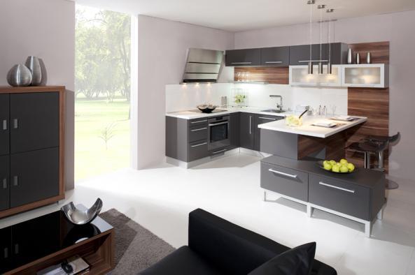 Kuchyně s poloostrovem