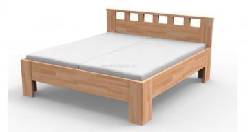 Dřevěná postel Lucia