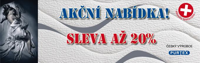 Sleva až 20% na matrace české výroby