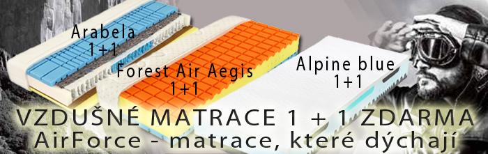 Vzdušné matrace AirForce. Matrace, které dýchají. Nyní v akci 1   1 zdarma.